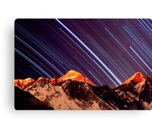 Shooting stars over Everest Canvas Print