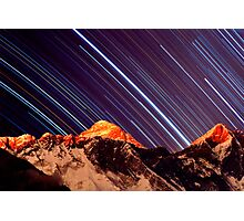 Shooting stars over Everest Photographic Print