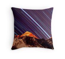 Shooting stars over Everest Throw Pillow