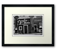A Bar for Frolickers Framed Print
