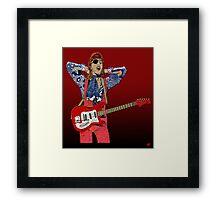 Bowie Guitar 3 Framed Print