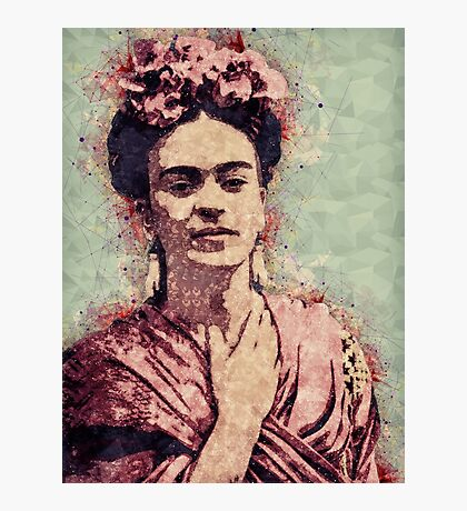 Frida Kahlo Illustrated Print Photographic Print