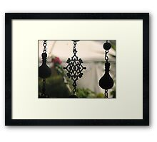 beaded window Framed Print