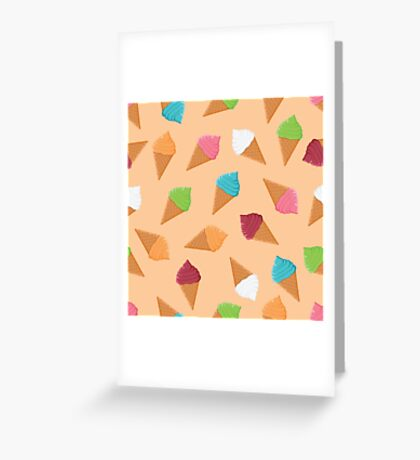 Sweet pattern with colorful ice cream Greeting Card