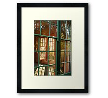 Cottage Windows,Cobin Farm Geelong Framed Print