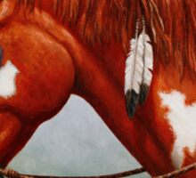 Native American War Horse Sticker