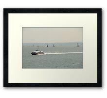 Red Jet 3 in the Solent Framed Print