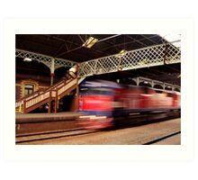 Red Train,Geelong Railway Station Art Print