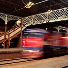 Red Train,Geelong Railway Station by Joe Mortelliti