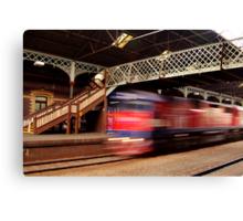 Red Train,Geelong Railway Station Canvas Print