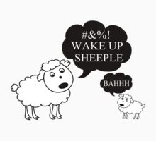 Sheep Says Wake Up Sheeple by FireFoxxy