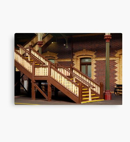 Staircase,Geelong Railway Station Canvas Print