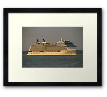 Celebrity Eclipse passing Cowes Framed Print