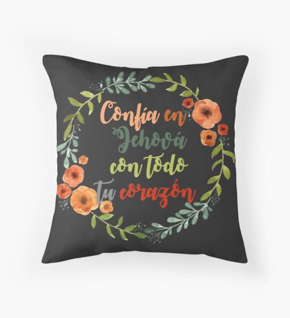 Corona texto bíblico Proverbios Throw Pillow