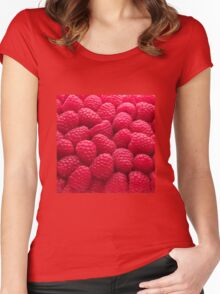 Raspberry Red Women's Fitted Scoop T-Shirt