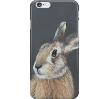 the hares stare iPhone Case/Skin