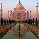 Dawn at Taj Mahal by Luka Skracic