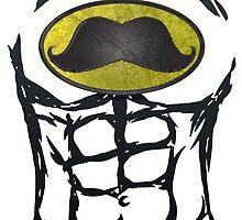 MustacheMan - Funny Comic Book Super Hero by andabelart