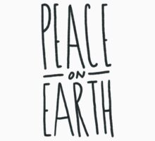 Peace on Earth (Green) One Piece - Short Sleeve
