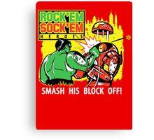ROCK EM' SOCK EM' HEROES Canvas Print