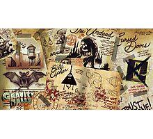 Gravity Falls Journal Page Mesh Photographic Print