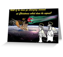 Christmas Traffic Greeting Card