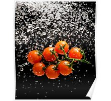 Cherry Tomato Splash 1 Poster
