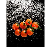 Cherry Tomato Splash 1 Photographic Print