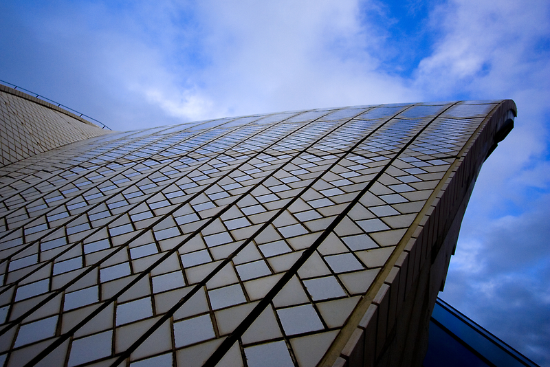 roof detail of Sydney Opera House  by Martin Pot