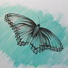 vintage butterfly by diane nicholson
