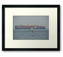 APL Container Ship Passing Ryde Framed Print