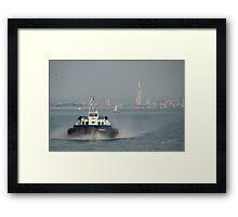 Island Express approaching Ryde Framed Print