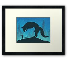 Boy and Fox Framed Print