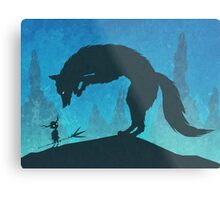Boy and Fox Metal Print