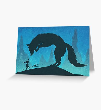 Boy and Fox Greeting Card