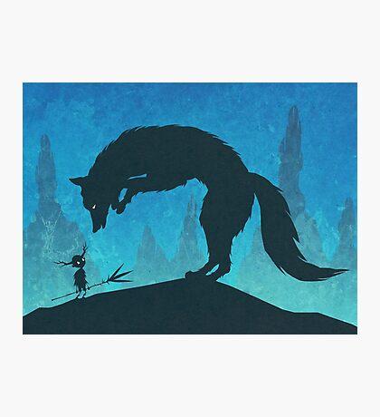 Boy and Fox Photographic Print
