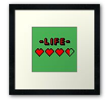 8-bit gamer lifebar Framed Print
