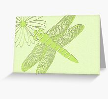 dragonfly in green Greeting Card