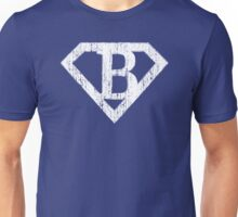 B letter in Superman style Unisex T-Shirt