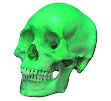 Neon Green Skull Photographic Print