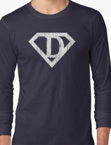 D letter in Superman style Long Sleeve T-Shirt