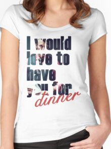 Dinner? Women's Fitted Scoop T-Shirt