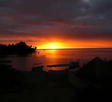 Sunset at Moorea Island by twiggylee77