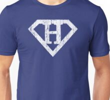 H letter in Superman style Unisex T-Shirt