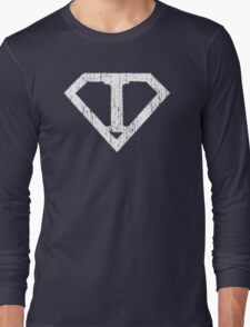 I letter in Superman style Long Sleeve T-Shirt