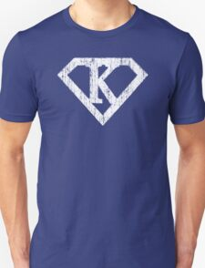 K letter in Superman style Unisex T-Shirt