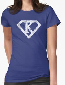 K letter in Superman style Womens Fitted T-Shirt