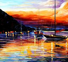 Harbor Of Messina — Buy Now Link - www.etsy.com/listing/207195964 by Leonid  Afremov