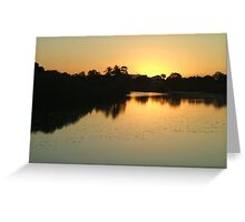 Sunset on  Ross River Greeting Card