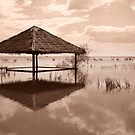Cambodian Hut by Samuel Tonin